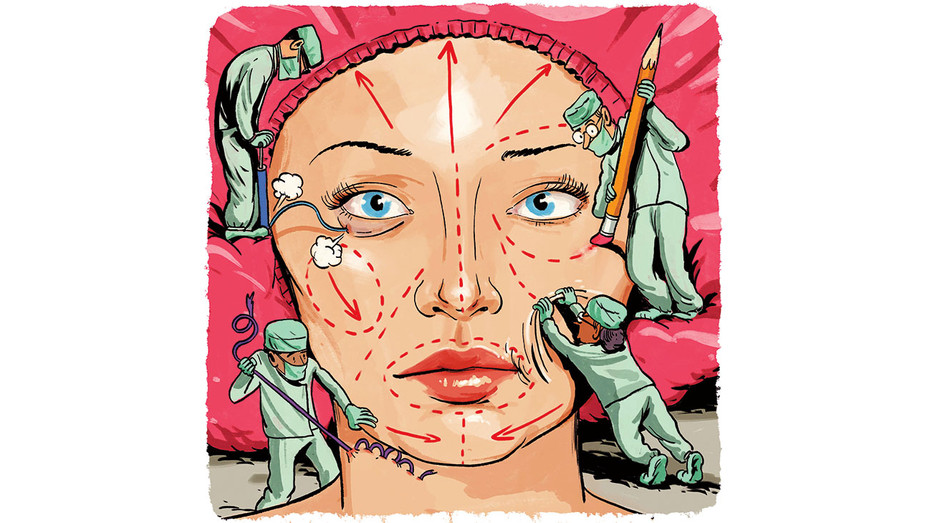 Docs Reveal How to Repair Overdone Plastic Surgery - Illustration by Zohar Lazar - H 2017
