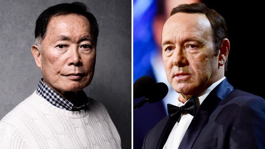 George Takei and Kevin Spacey - Split - Getty - H 2017