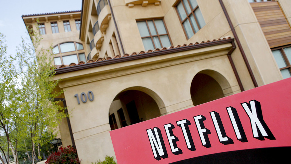 Netflix company logo - Netflix headquarters in Los Gatos, CA - Getty- H 2017