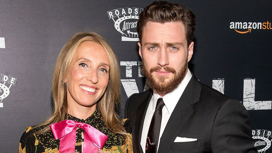 Sam Taylor-Johnson and Aaron Taylor-Johnson - The Wall World Premiere -Getty-H 2017