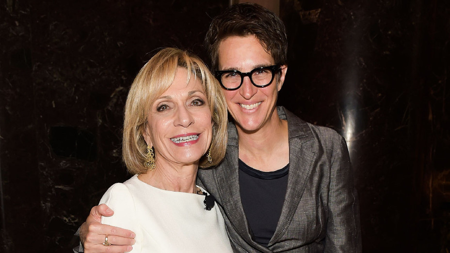 Andrea Mitchell and Rachel Maddow - The International Women's Media Foundation's 28th Annual Awards Ceremony - Getty - H 2017