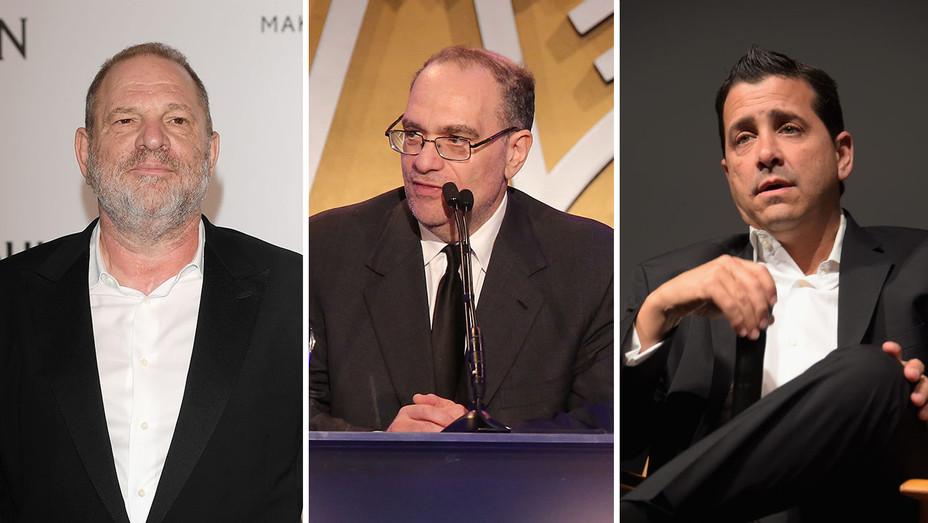 Harvey Weinstein, Bob Weinstein and David Glasser _Split - Getty - H 2017