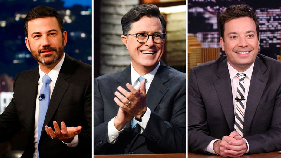 Jimmy Kimmel, Stephen Colbert and Jimmy Fallon - Split - Publicity - H 2017