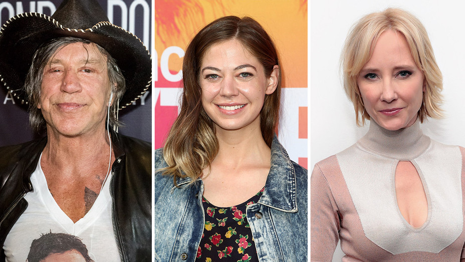 Mickey Rourke, Analeigh Tipton and Anne Heche_Split - Getty - H 2017