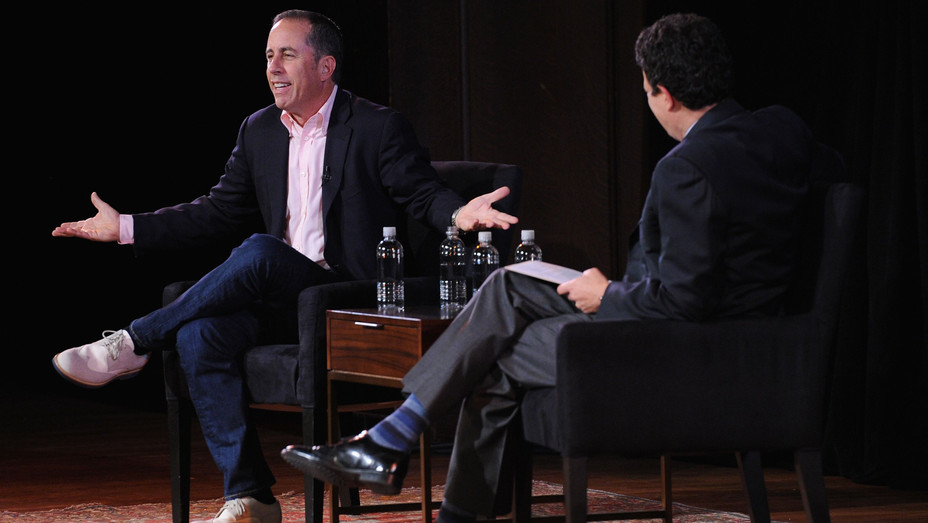 Jerry Seinfeld and David Remnick at the New Yorker Festival - H Getty 2017
