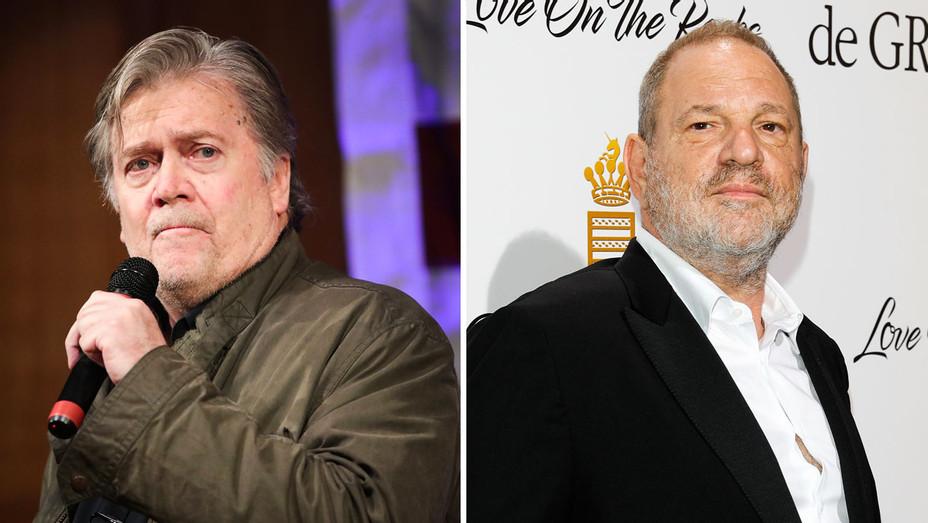 Steve Bannon and Harvey Weinstein - Split - Getty - H 2017