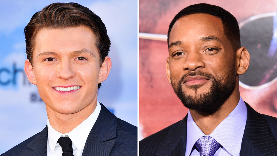 Tom Holland and Will Smith - Split - Getty - H 2017