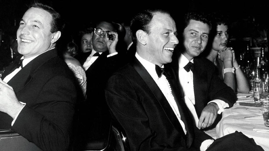 Gene Kelly, Frank Sinatra and Eddie Fisher - 15th Annual Golden Globes - One Time Use Only - MPTV - H 2017