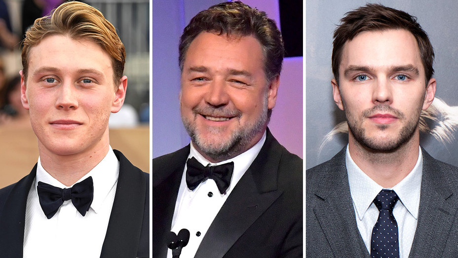 George MacKay, Russell Crowe and Nicholas Hoult - Getty-Split-H 2017
