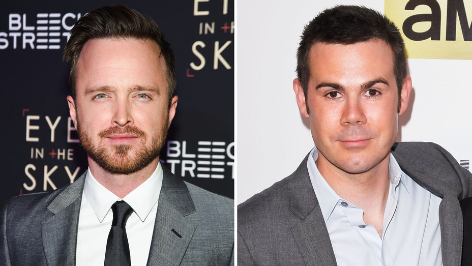 Aaron Paul and Christopher Cantwell - Split - Getty - H 2017