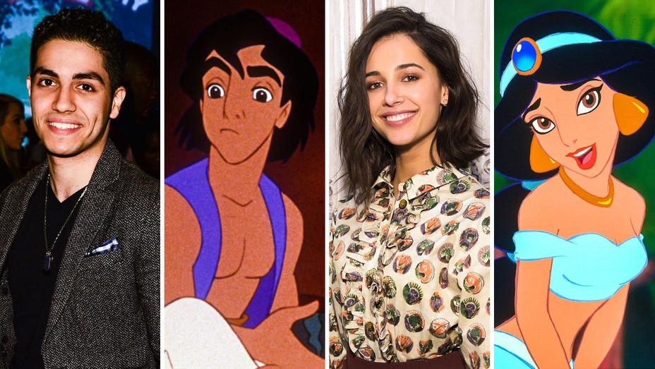 Aladdin Mena Massoud and Naomi Scott - Split - Getty - H 2017
