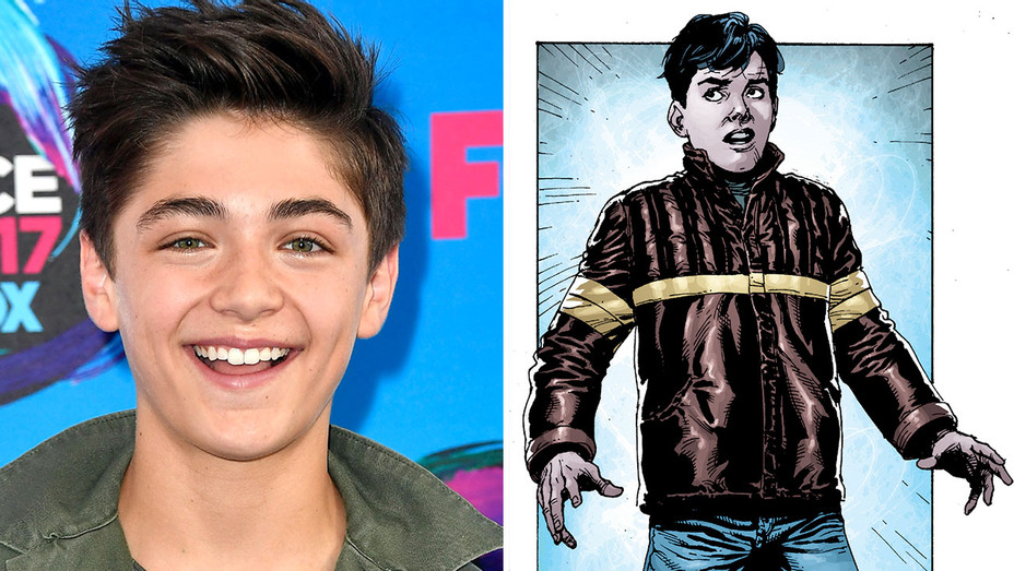 Asher Angel and DC character Billy Batson -Split- Getty-Publicity-H 2017