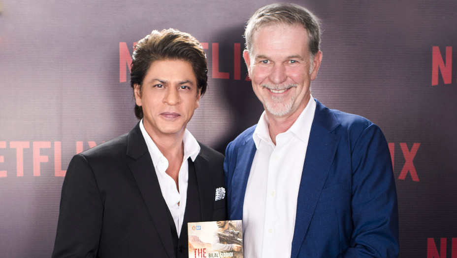 Shah Rukh Khan with Reed Hastings - Publicity - H 2017