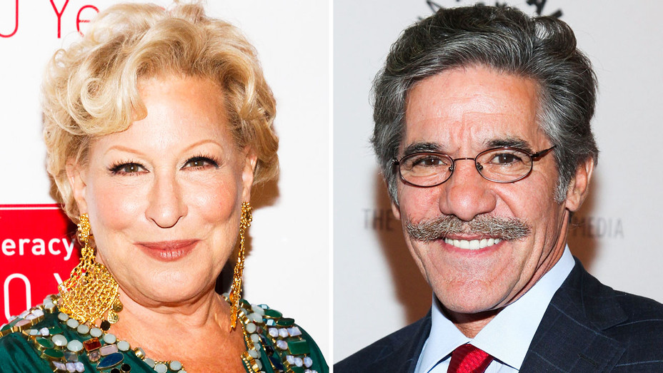 Bette Midler and Geraldo Rivera - Split - Getty - H 2017