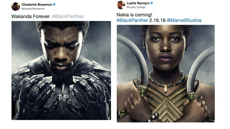 Chadwick Lupita Black Panther Announcement Split - Screengrab - H 2017