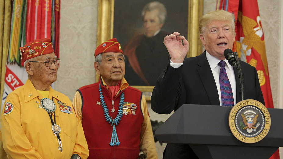 Donald Trump_Native American code talkers - Getty - H 2017
