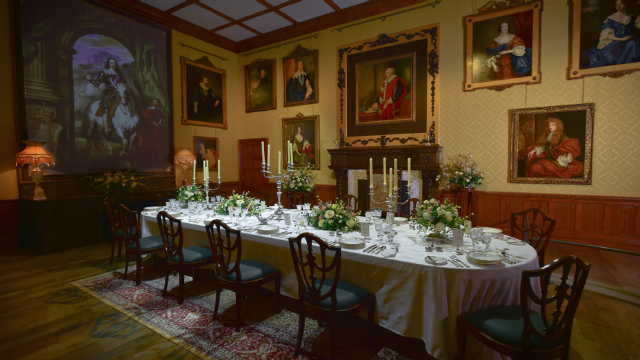 'Downton Abbey' Exhibit Dining Room - Embed Publicity 2017
