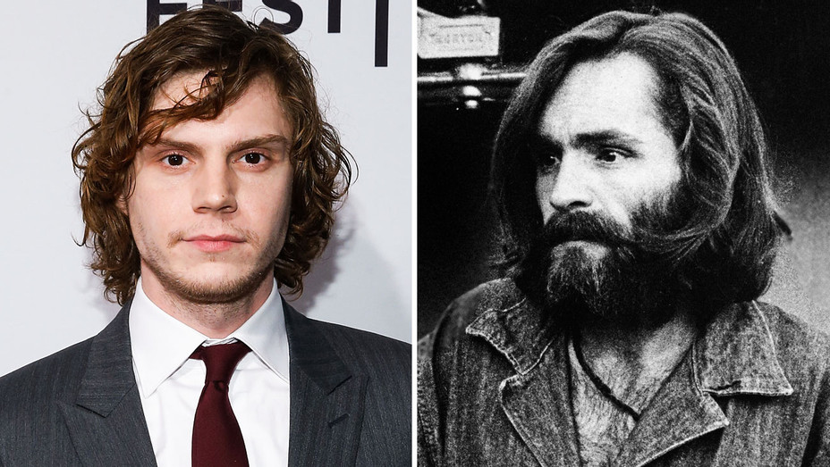 Evan Peters and Charles Manson - Split - Photofest - H 2017