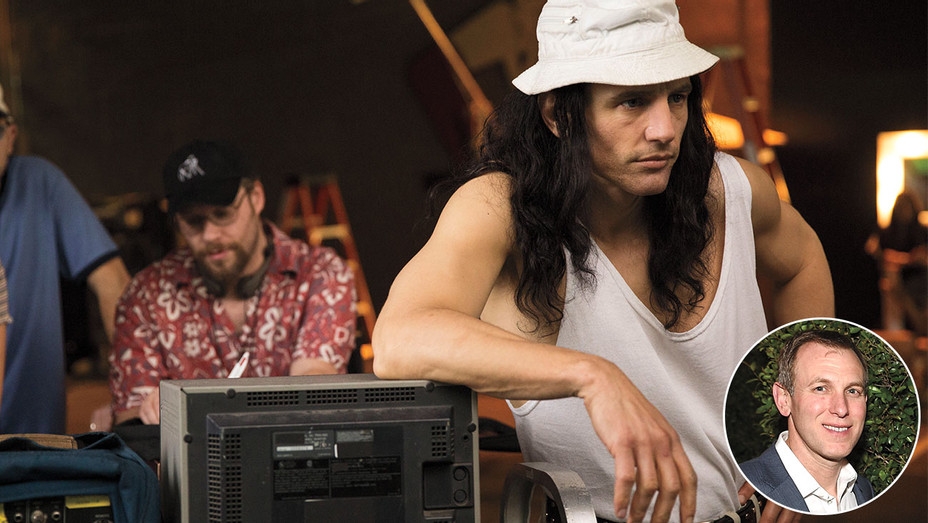 Franco in The Disaster Artist and Inset: Kramer -Getty-H 2017