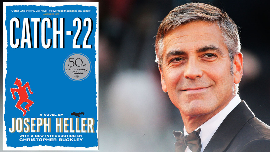George Clooney and Catch-22 Cover - Split - Getty - H 2017