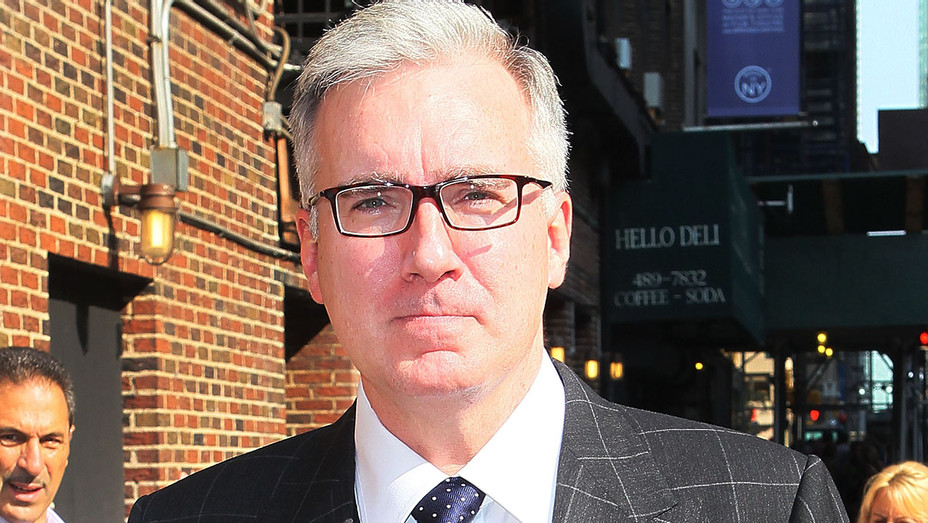 Keith Olbermann arrives to Late Show with David Letterman 2013- Getty-H 2017