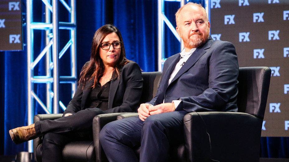 Pamela Adlon and Louis C.K. - 2017 Summer TCA Tour - Getty - H 2017