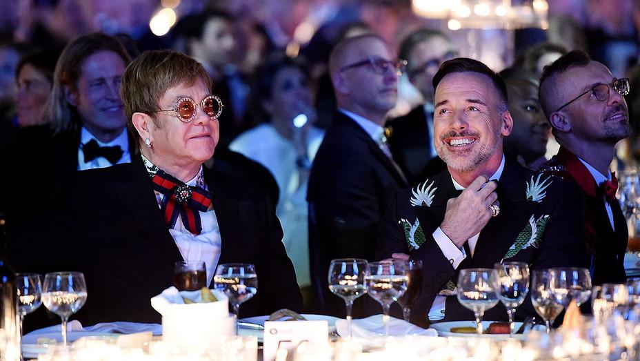 Sir Elton John and David Furnish attend the Elton John AIDS Foundation Gala - Getty- H 2017