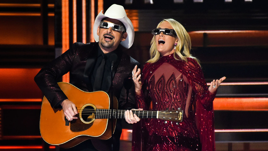 Brad Paisley and Carrie Underwood - 51st Annual CMA - Getty - H 2017