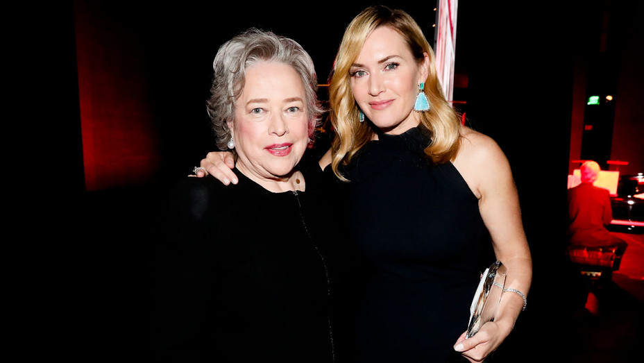 Kathy Bates and Kate Winslet - SAG-AFTRA Foundation Patron of the Artists Awards - Getty - H 2017