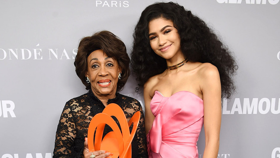 Maxine Waters and Zendaya -Glamour's 2017 Women of The Year Awards-Getty-H 2017