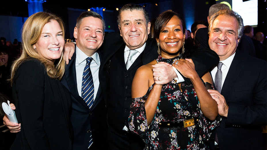 Ann Gianopulos, Ted Sarandos, Chief Content Officer Netflix, Haim Saban, Nicole Avant, and Jim Gianopulos - Saban Community Clinic - Getty - H 2017