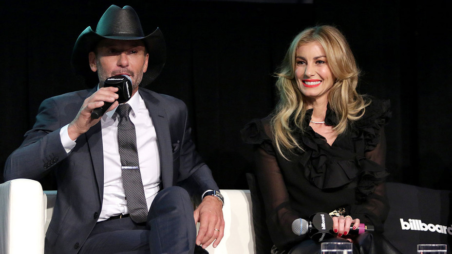 Tim McGraw and Faith Hill speak during the Billboard 2017 Touring Conference -Getty-H 2017