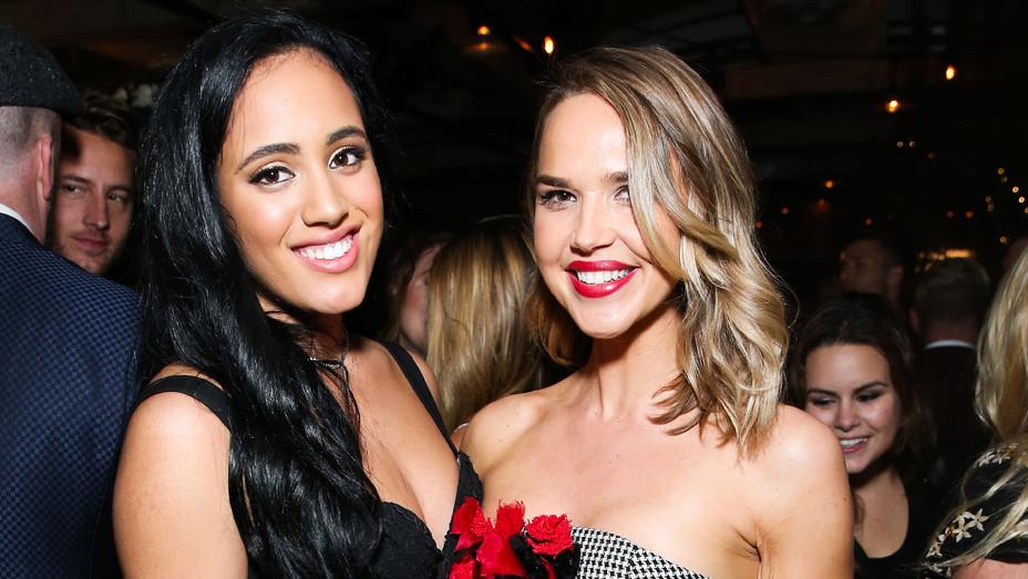 Simone Garcia Johnson and Arielle Kebbel - 2018 Golden Globes - Getty - H 2017
