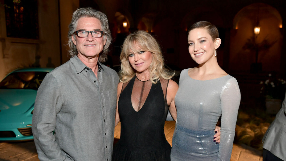 Kurt Russell, Goldie Hawn, Kate Hudson - Getty - H 2017