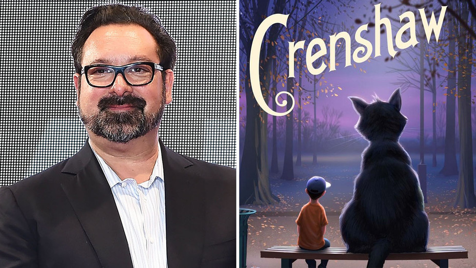 James Mangold and the cover of the children's book Crenshaw -Getty-H 2017