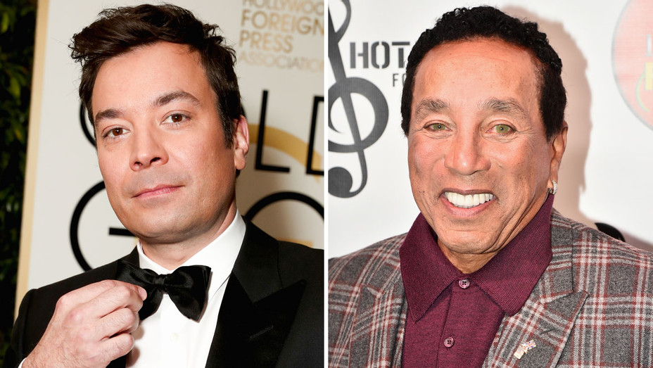 Jimmy Fallon and Smokey Robinson - Split - Getty - H 2017