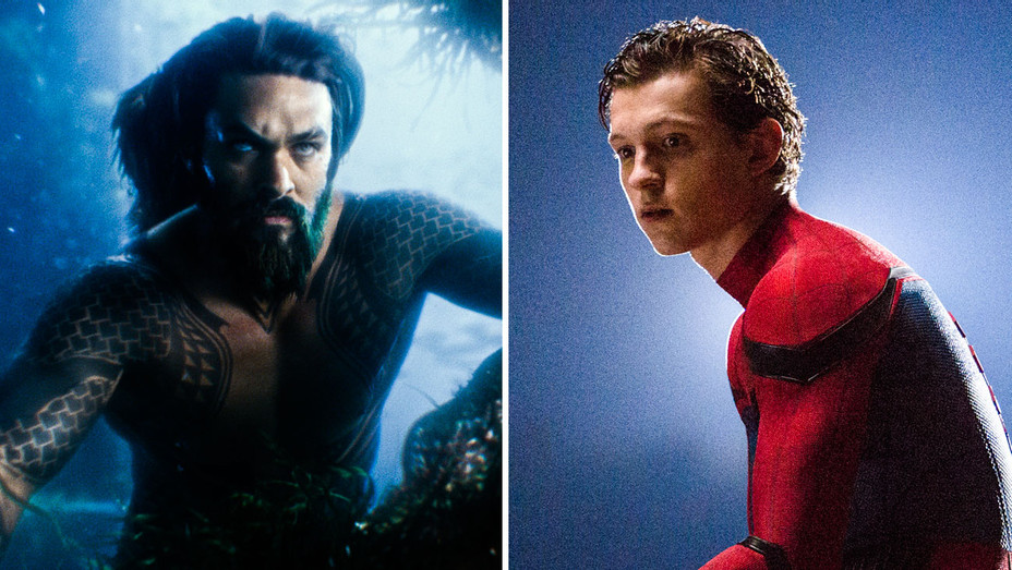 Justice League and Spider-Man: Homecoming Still - Split - Publicity - H 2017