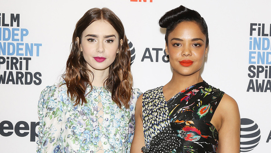 Lily Collins and Tessa Thompson - Getty - H 2017