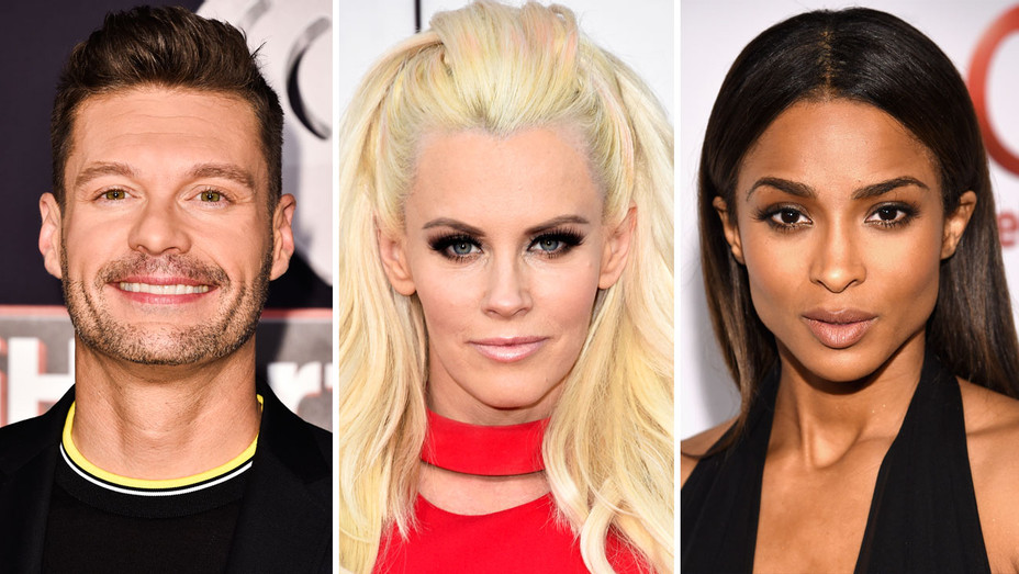 Ryan Seacrest, Jenny McCarthy and Ciara - Split - Getty - H 2017
