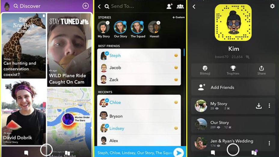 Snapchat redesign - H