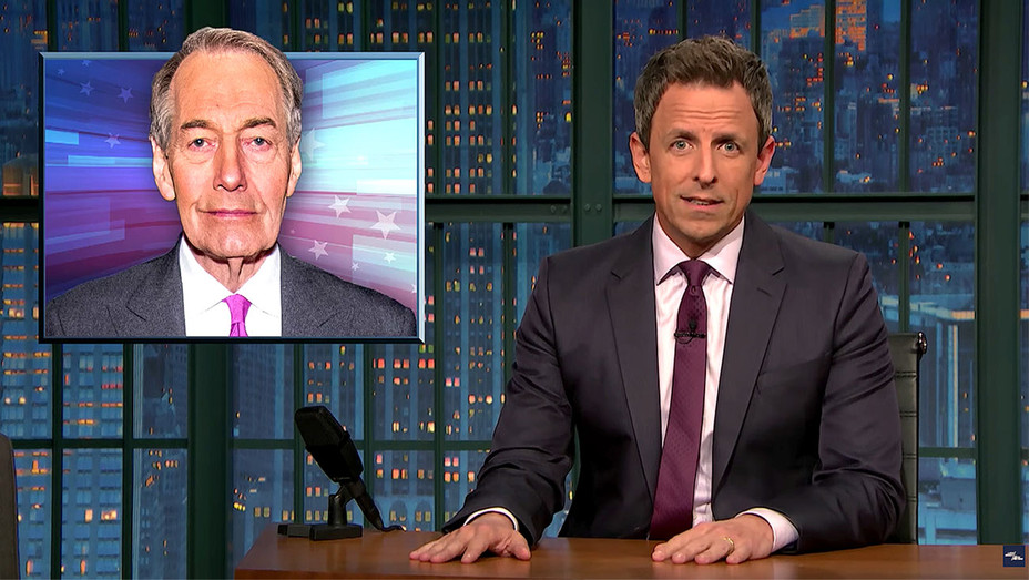 Late Night with Seth Meyers -Charlie Rose Fired for Sexual Harassment-Screen shot-H 2017