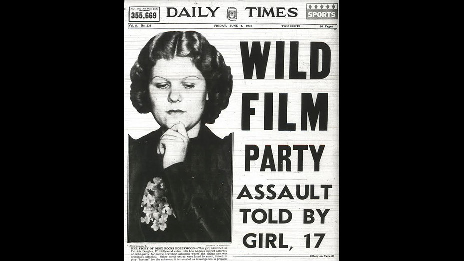 WILD FILM PARTY DAILY TIMES Cover -public domain 1937-Stephen Galloway- H 2017