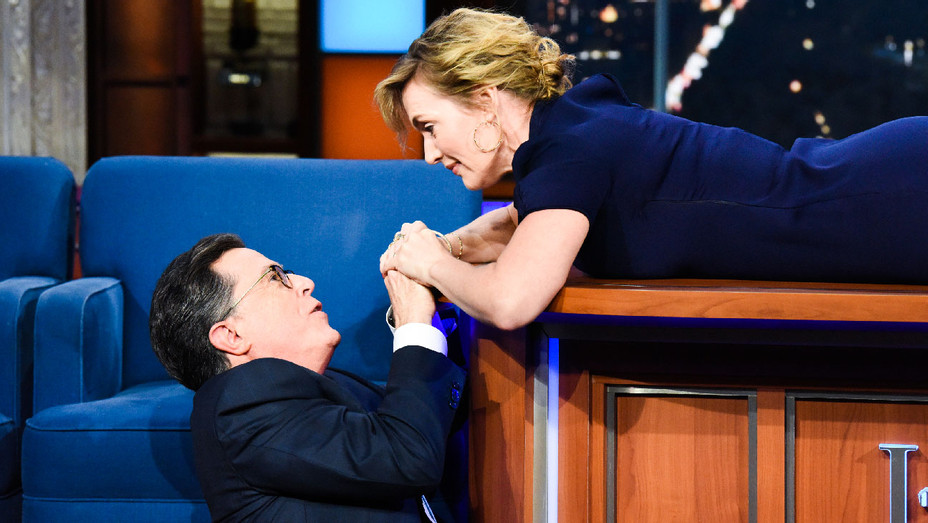 The Late Show with Stephen Colbert Kate Winslet Titanic Scene - Publicity - H 2017