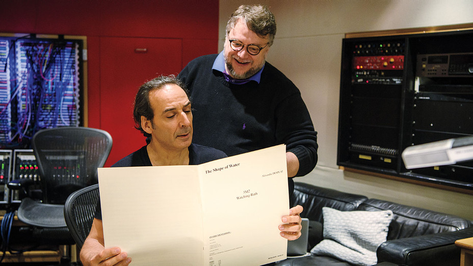 Awards - score - Shape of Water - Desplat and del Toro working on The Shape of Water -H 2017
