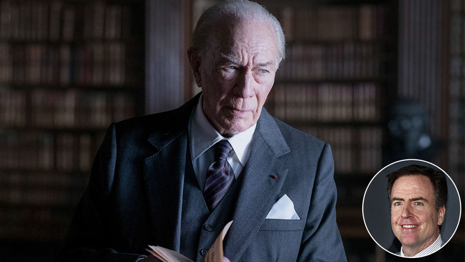 All the Money in the World  - Christopher Plummer -inset of screenwriter David Scarpa-H 2017