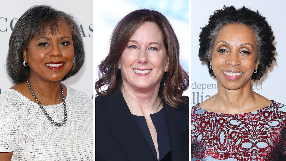 Anita Hill, Kathleen Kennedy and Nina Shaw_Split - Getty - H 2017