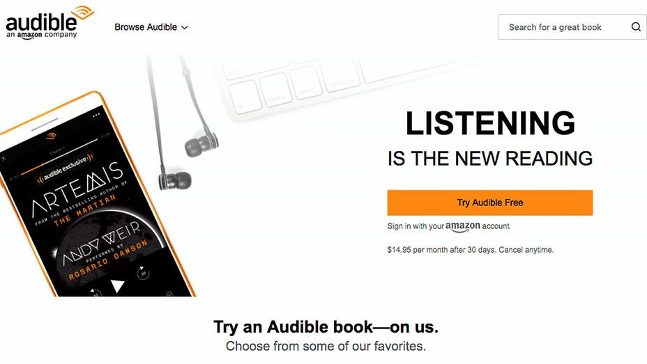 Audible -Website Screen shot -H 2017