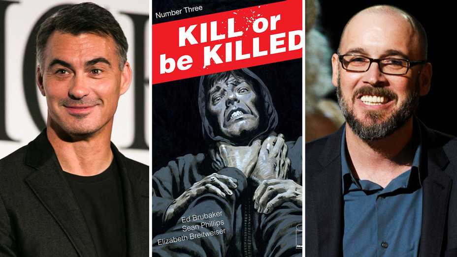 Chad Stahelski, Kill or Be Killed Cover and Ed Brubaker - Split - Getty - H 2017