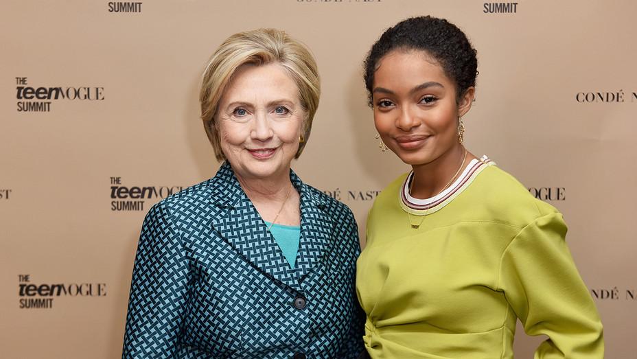 Hillary Clinton and Yara Shahidi - H Getty 2017