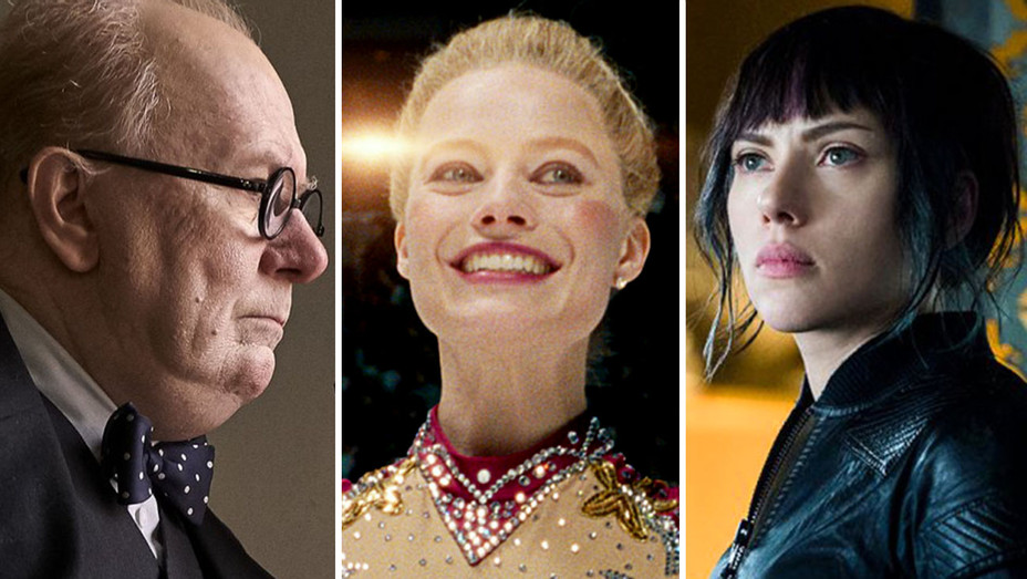Darkest Hour, I Tonya, and Ghost in the Shell- Split-Publicity-H 2017